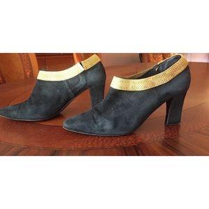 DONNA KARAN Black Suede Ankle Booties 6.5 $30/$450